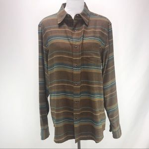 Marmot Brown Plaid Flannel Button Down Shirt Med